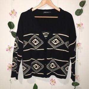 Black & White Patterned Cardigan